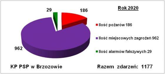 Statystyka 2020 KP PSP Brzozw